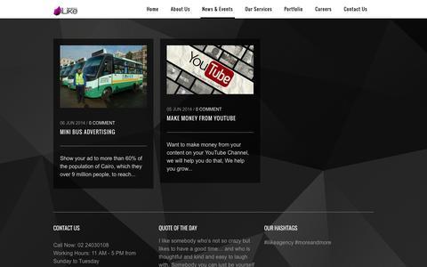Screenshot of Press Page ilikeadv.com - News & Events | iLike Agency - captured Oct. 6, 2014