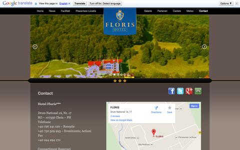Screenshot of Contact Page hotelfloris.ro - Contact | Hotel Floris - Cazare Cheia, Hotel CheiaHotel Floris – Cazare Cheia, Hotel Cheia - captured Sept. 30, 2014