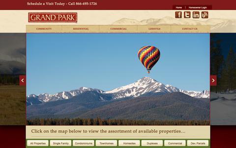 Screenshot of Home Page grandparkco.com - Grand Park - captured Jan. 23, 2015