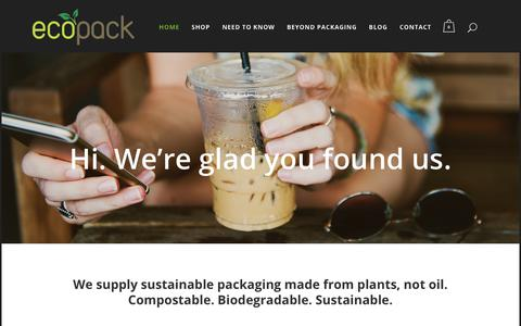 Screenshot of Home Page ecopack.co.za - EcoPack - Premier Quality Biodegradable Packaging - South Africa - captured July 16, 2018