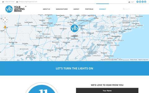 Screenshot of Contact Page yourlightingbrand.com - Your Lighting Brand  | Contact Us - captured Oct. 28, 2014