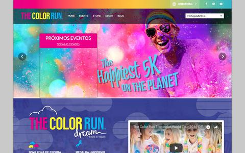 Screenshot of Home Page thecolorrun.pt - Home - The Color Run™ - Portugal - captured Jan. 31, 2018
