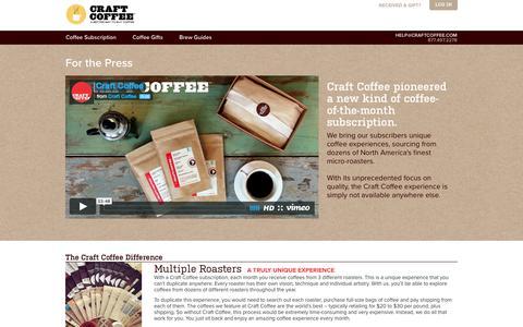 Screenshot of Press Page craftcoffee.com - Press | Craft Coffee - captured Feb. 27, 2016
