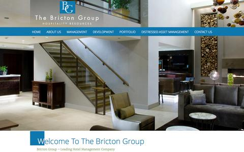 Screenshot of Home Page bricton.com - Top Hotel Management Companies | The Bricton Group | Chicago - captured Sept. 19, 2015