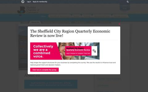 Screenshot of About Page scci.org.uk - About, Sheffield Events for Business - Sheffield Chamber of Commerce - captured Nov. 9, 2018