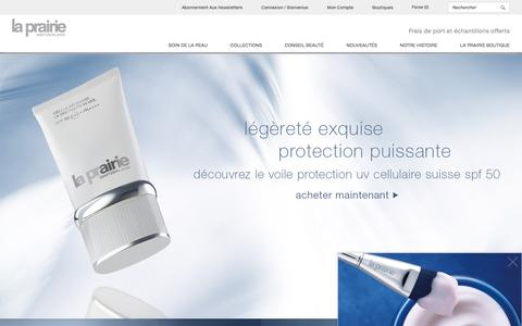 Screenshot of Home Page la-prairie.fr - La Prairie | Produits anti-âge de luxe | Accueil - captured June 14, 2016