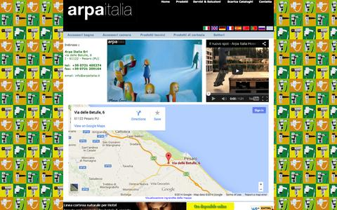Screenshot of Privacy Page Contact Page arpaitalia.it - Arpa Italia Srl | Forniture per Alberghi | Hotel Guest Supplies | Hotelausstattungen - captured Oct. 23, 2014