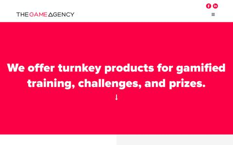 Screenshot of Products Page thegameagency.com - products - The Game Agency - a digital marketing agency specializing in games and promotions - captured Feb. 25, 2016