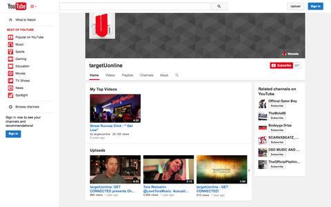 Screenshot of YouTube Page youtube.com - targetUonline  - YouTube - captured Oct. 26, 2014