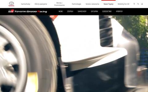 Screenshot of Press Page toyota.pl - Toyota | Samochody wyścigowe - WRC - sporty motorowe - captured Nov. 22, 2018