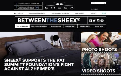 Screenshot of Blog sheex.com - SHEEX® Performance Bedding & Sleepwear SHEEX® Performance Bedding & Sleepwear -     - - captured March 23, 2016
