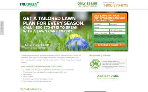 Screenshot of Landing Page trugreen.com - TruGreen. Go Greener. - captured Aug. 22, 2016