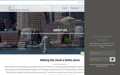 Screenshot of About Page roansolutions.com - About Roan Solutions - Roan Solutions - captured Oct. 18, 2018