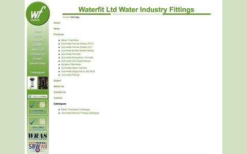 Screenshot of Site Map Page waterfit.co.uk - Waterfit Ltd - Careers - captured Oct. 27, 2014
