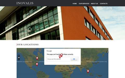 Screenshot of Locations Page inovalis.com - Our Locations   Inovalis - captured Dec. 15, 2018