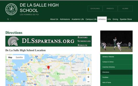 Screenshot of Maps & Directions Page dlshs.org - Directions - Sample  School District - captured Oct. 8, 2018