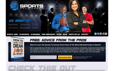 Screenshot of Home Page sportsnetworker.com - FREE: ADVICE FROM THE PROS | Sports NetworkerSports Networker - captured Sept. 25, 2014