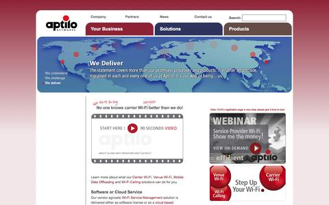 Aptilo Networks - carrier solutions for managing mobile data services