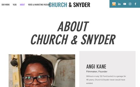 Screenshot of About Page churchandsnyder.com - Newchurchandsnyder | ABOUT - captured Dec. 14, 2018