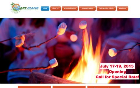 Screenshot of Home Page lpccc.net - Lake Placid Camp & Conference Center - captured June 19, 2015