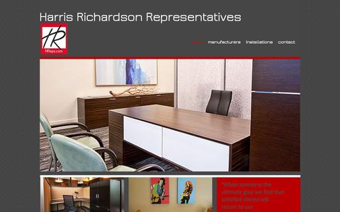 Screenshot of Home Page richardsonreps.com - harrisrichardsonreps - captured Oct. 7, 2014