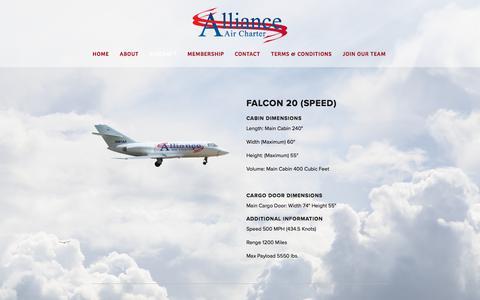 Screenshot of Services Page allianceaircharter.com - Aircraft — Alliance Air Charter - captured July 29, 2018