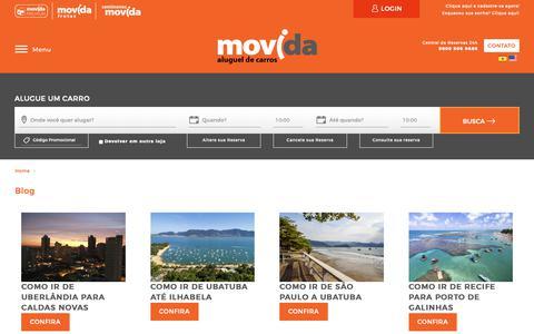 Screenshot of Blog movida.com.br - Aluguel de Carros em  | Movida Aluguel de Carros - captured Jan. 13, 2019