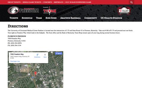 Screenshot of Maps & Directions Page florencefreedom.com - Florence Freedom - captured Aug. 4, 2016