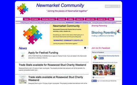 Screenshot of Press Page newmarketcommunity.co.uk - News Archives | Newmarket Community Events Ltd - captured Oct. 7, 2014