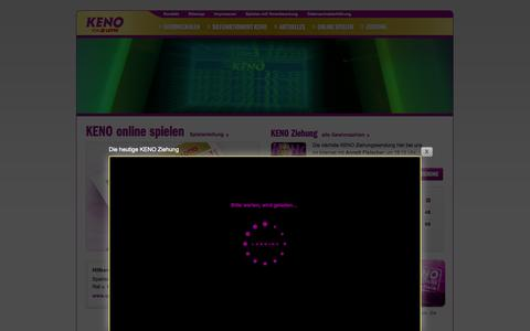Screenshot of Home Page keno.de - KENO von LOTTO - captured Sept. 23, 2014