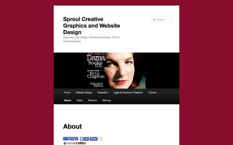 Screenshot of About Page sproulcreative.com - About - Sproul Creative Graphics and Website DesignSproul Creative Graphics and Website Design - captured Feb. 16, 2016