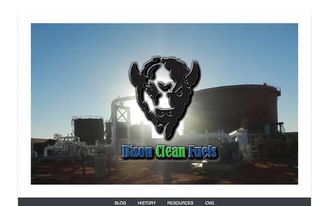 Screenshot of Home Page Menu Page bisoncleanfuels.com captured Sept. 30, 2014