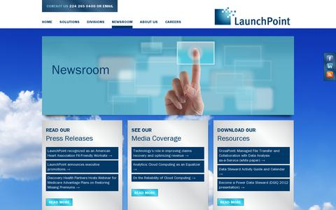 Screenshot of Press Page launchpointcorporation.com - Newsroom | Launchpoint Companies - captured July 19, 2014