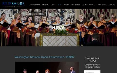 Screenshot of Press Page douglaspew.com - News — Douglas Pew - captured Oct. 5, 2014