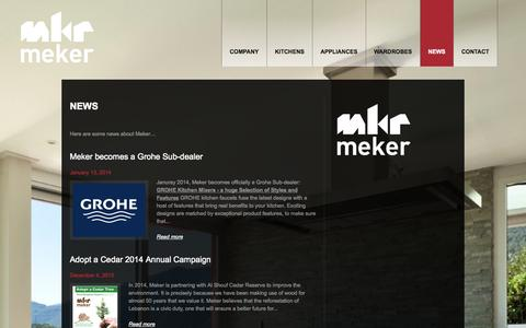 "Screenshot of Press Page meker.com - Category Archive for ""News"" 