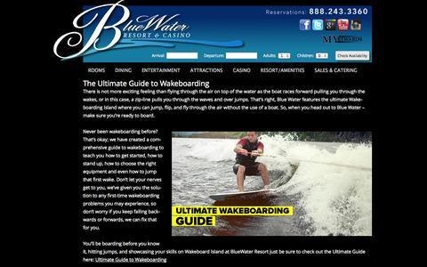 Screenshot of Blog bluewaterfun.com - Blog | Blue Water Resort & Casino - captured Sept. 23, 2014