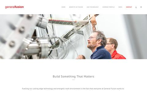 Screenshot of Jobs Page generalfusion.com - Careers at General Fusion - Build something that matters - captured Dec. 7, 2018