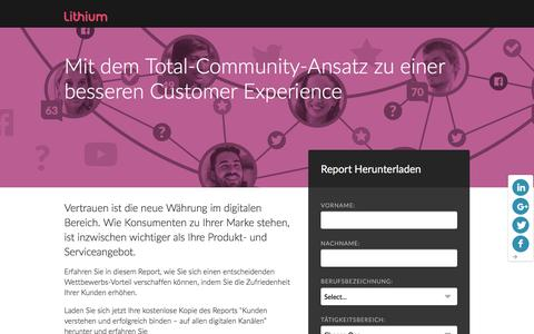 Screenshot of Landing Page lithium.com - Mit dem Total-Community-Ansatz zu einer besseren Customer Experience | Lithium Resources - captured March 21, 2016