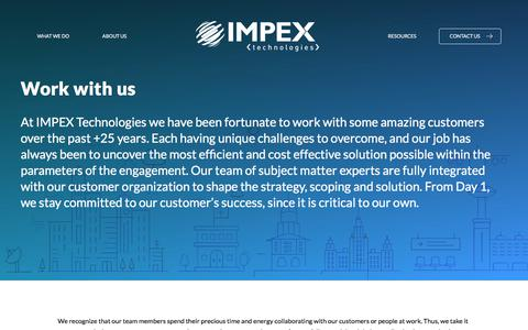 Screenshot of Jobs Page impextechnologies.com - Careers – Impex - captured Jan. 16, 2018