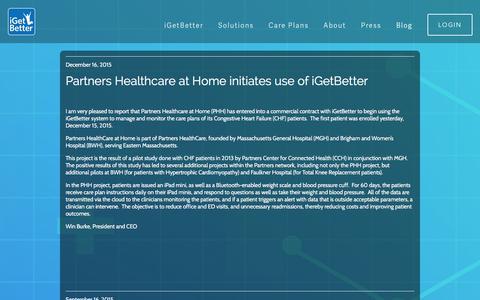 Screenshot of Blog igetbetter.com - Blog Ń iGetBetter - captured Jan. 9, 2016