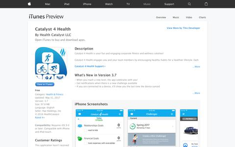 Catalyst 4 Health on the App Store