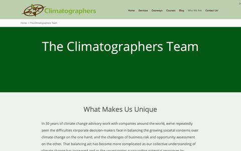 Screenshot of About Page climatographer.com - The Climatographers Team - The Climatographers - captured Nov. 16, 2018