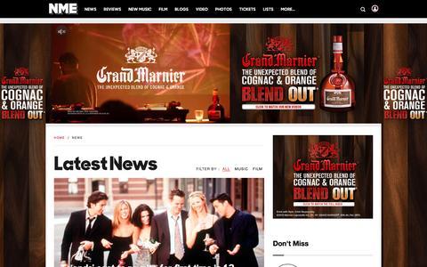 Screenshot of Press Page nme.com - NME Music News | NME.COM - captured Jan. 14, 2016