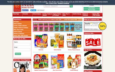 Screenshot of Products Page spicesofindia.co.uk - Indian Food | Buy online - captured Oct. 30, 2017