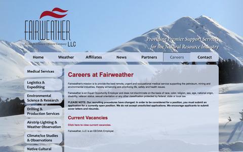 Screenshot of Jobs Page fairweather.com - Fairweather   Career Opportunities - captured Sept. 30, 2014