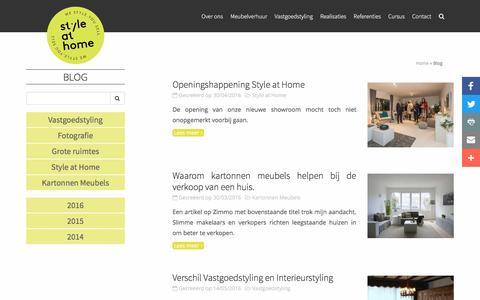 Screenshot of Blog styleathome.be - Blog | StyleatHome - captured Nov. 18, 2016