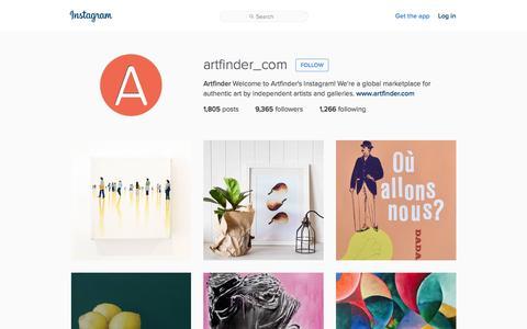 Screenshot of Instagram Page instagram.com - Artfinder (@artfinder_com) Ľ Instagram photos and videos - captured Nov. 13, 2015