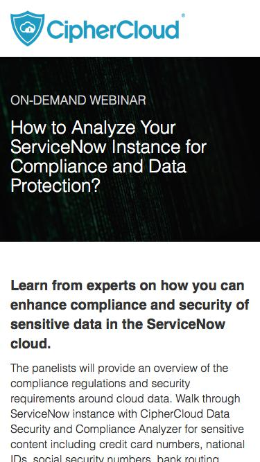 How to Analyze Your ServiceNow Instance to Ensure Compliance