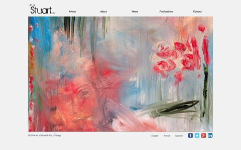 Screenshot of Home Page artofstuart.com - Home   Art of Stuart & Co. - captured Oct. 4, 2014