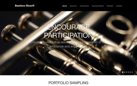 Screenshot of Home Page bamboorivermarketing.com - Bamboo River® - captured Sept. 30, 2014
